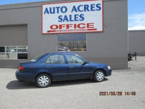 2002 Toyota Corolla for sale at Auto Acres in Billings MT