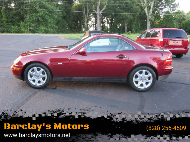 1999 Mercedes-Benz SLK for sale at Barclay's Motors in Conover NC