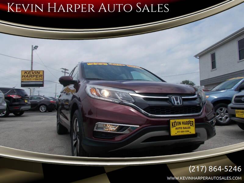 2015 Honda CR-V for sale at Kevin Harper Auto Sales in Mount Zion IL