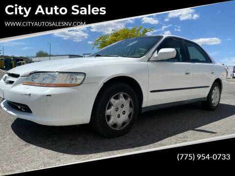1999 Honda Accord for sale at City Auto Sales in Sparks NV