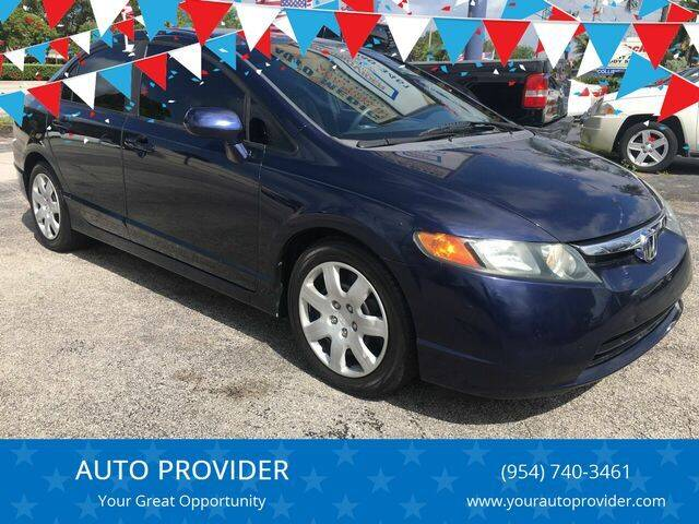2008 Honda Civic for sale at AUTO PROVIDER in Fort Lauderdale FL