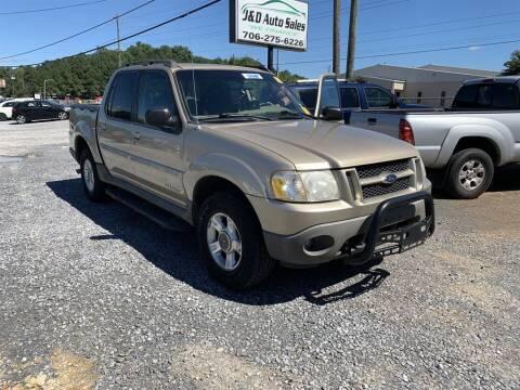 2001 Ford Explorer Sport Trac for sale at J & D Auto Sales in Dalton GA