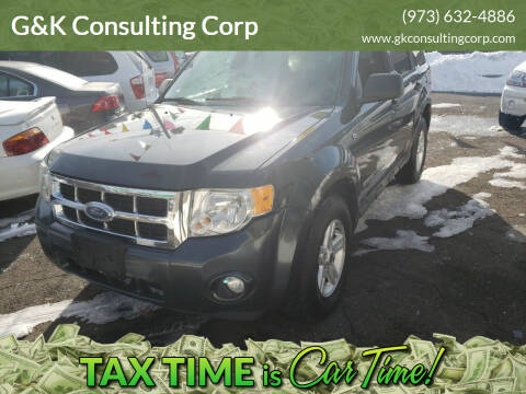 2008 Ford Escape for sale at G&K Consulting Corp in Fair Lawn NJ