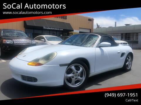 1998 Porsche Boxster for sale at SoCal Automotors in Costa Mesa CA