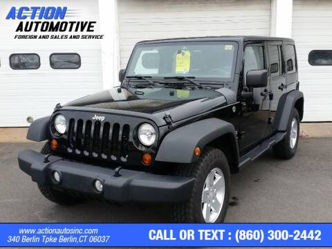 2012 Jeep Wrangler Unlimited for sale at Action Automotive Inc in Berlin CT