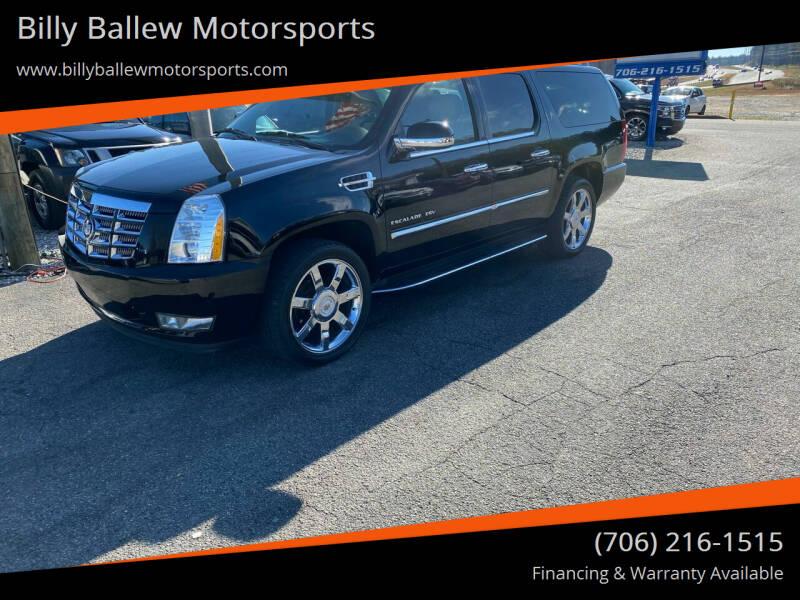 2012 Cadillac Escalade ESV for sale at Billy Ballew Motorsports in Dawsonville GA