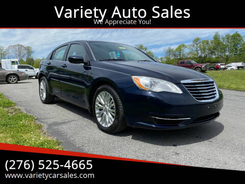 2012 Chrysler 200 for sale at Variety Auto Sales in Abingdon VA