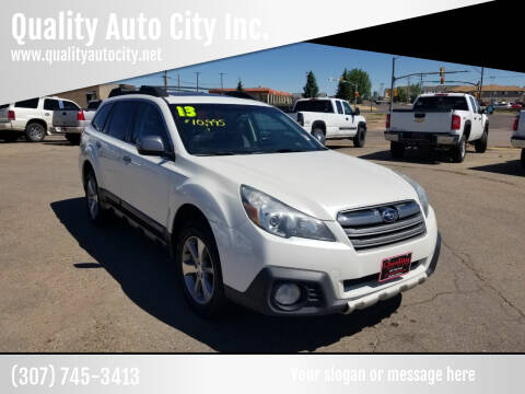 2013 Subaru Outback for sale at Quality Auto City Inc. in Laramie WY