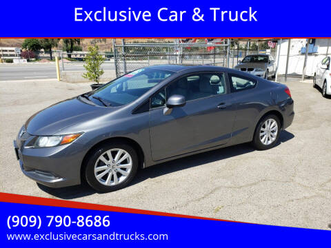 2012 Honda Civic for sale at Exclusive Car & Truck in Yucaipa CA