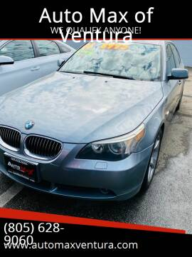 2006 BMW 5 Series for sale at Auto Max of Ventura in Ventura CA