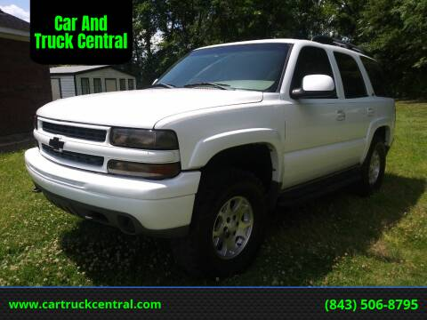 2003 Chevrolet Tahoe for sale at Car And Truck Central in Dillon SC