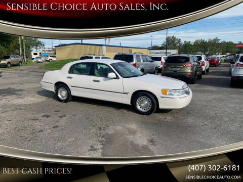 2000 Lincoln Town Car for sale at Sensible Choice Auto Sales, Inc. in Longwood FL