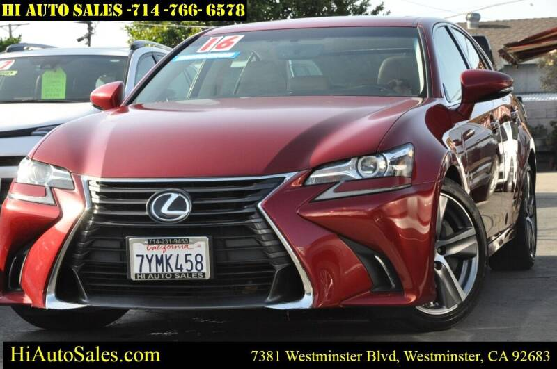 2016 Lexus GS 200t for sale at Hi Auto Sales in Westminster CA
