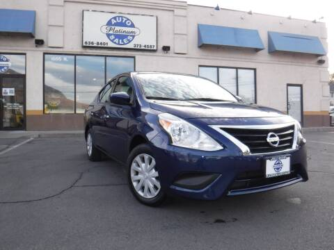 2018 Nissan Versa for sale at Platinum Auto Sales in Provo UT
