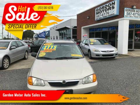 2000 Mazda Protege for sale at Gordon Motor Auto Sales Inc. in Norfolk VA