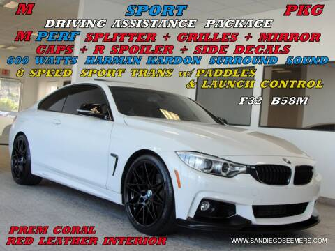 2017 BMW 4 Series for sale at SAN DIEGO BEEMERS in San Diego CA