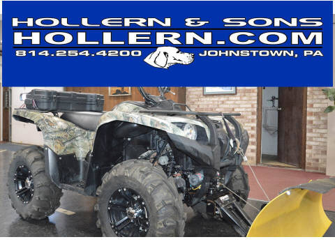2013 Yamaha YFM7FGPHD Grizzly Hunter for sale at Hollern & Sons Auto Sales in Johnstown PA