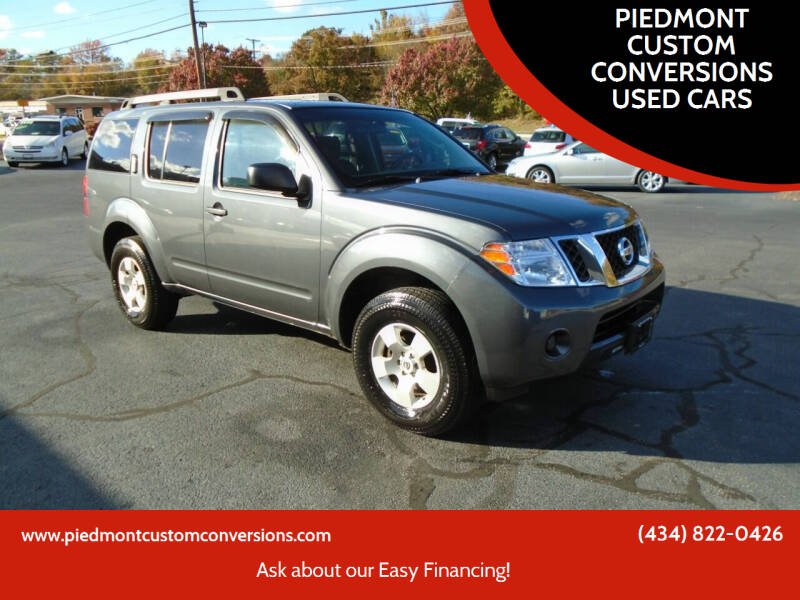 2012 Nissan Pathfinder for sale at PIEDMONT CUSTOM CONVERSIONS USED CARS in Danville VA