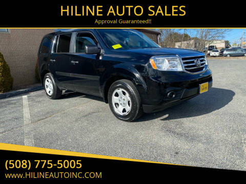 2013 Honda Pilot for sale at HILINE AUTO SALES in Hyannis MA