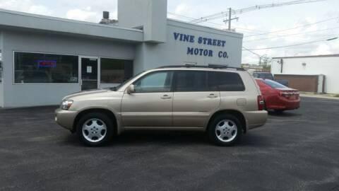 2007 Toyota Highlander for sale at VINE STREET MOTOR CO in Urbana IL