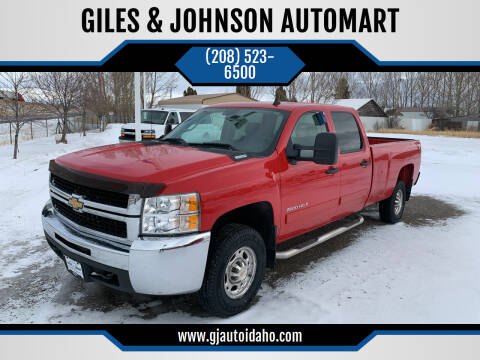 2008 Chevrolet Silverado 2500HD for sale at GILES & JOHNSON AUTOMART in Idaho Falls ID