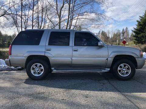 2000 Cadillac Escalade for sale at Grandview Motors Inc. in Gig Harbor WA