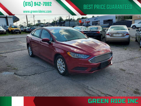 2017 Ford Fusion for sale at Green Ride Inc in Nashville TN