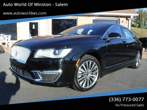 2017 Lincoln MKZ for sale at Auto World Of Winston - Salem in Winston Salem NC