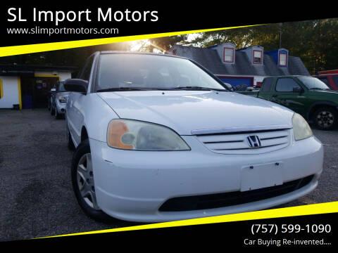 2003 Honda Civic for sale at SL Import Motors in Newport News VA