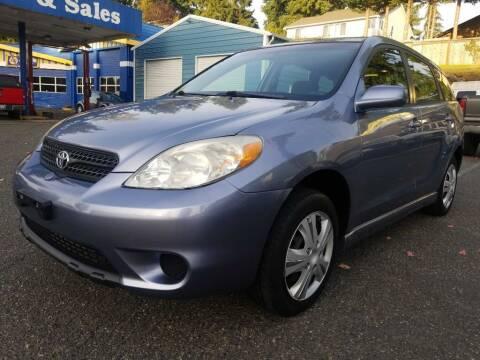 2005 Toyota Matrix for sale at Shoreline Family Auto Sales in Shoreline WA