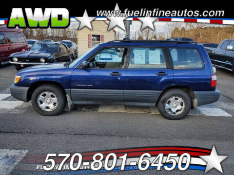 2001 Subaru Forester for sale at FUELIN FINE AUTO SALES INC in Saylorsburg PA
