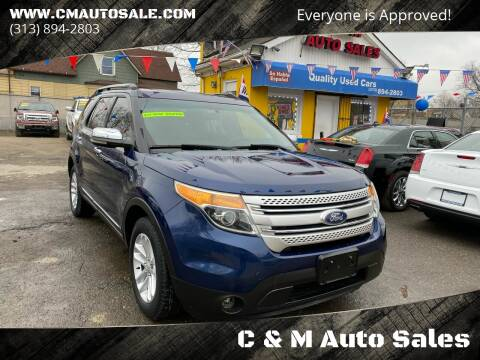 2012 Ford Explorer for sale at C & M Auto Sales in Detroit MI