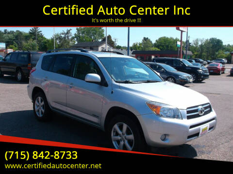 2008 Toyota RAV4 for sale at Certified Auto Center Inc in Wausau WI