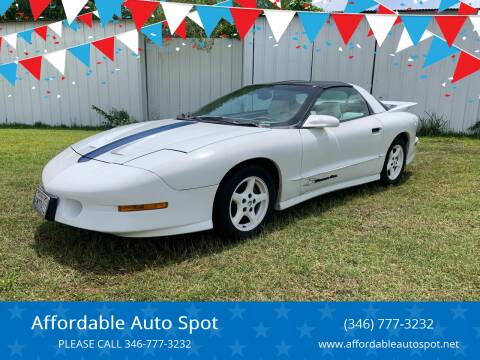 1994 Pontiac Firebird for sale at Affordable Auto Spot in Houston TX