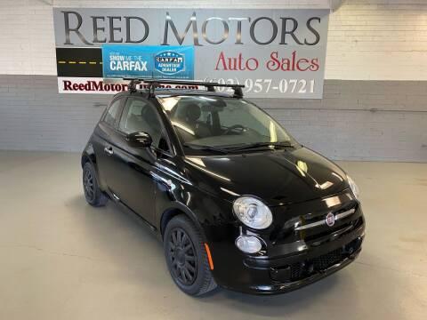 2014 FIAT 500 for sale at REED MOTORS LLC in Phoenix AZ