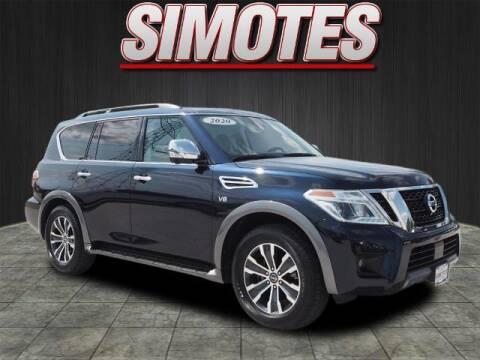 2020 Nissan Armada for sale at SIMOTES MOTORS in Minooka IL