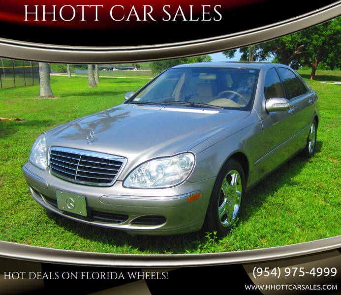 2003 Mercedes-Benz S-Class for sale at HHOTT CAR SALES in Deerfield Beach FL