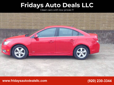 2012 Chevrolet Cruze for sale at Fridays Auto Deals LLC in Oshkosh WI