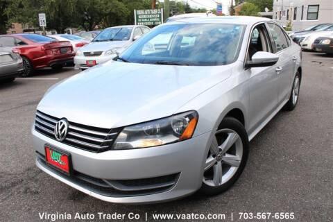 2012 Volkswagen Passat for sale at Virginia Auto Trader, Co. in Arlington VA