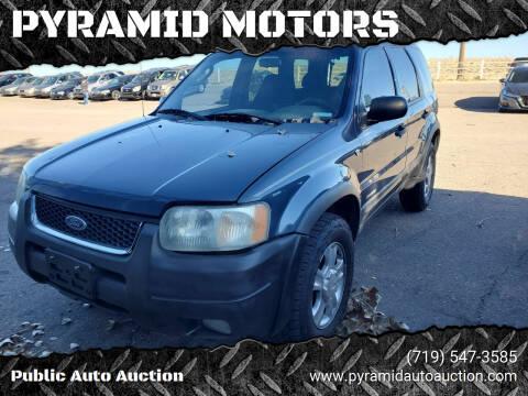 2001 Ford Escape for sale at PYRAMID MOTORS - Pueblo Lot in Pueblo CO