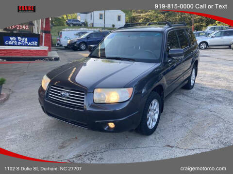 2008 Subaru Forester for sale at CRAIGE MOTOR CO in Durham NC