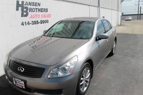 2008 Infiniti G35 for sale at HANSEN BROTHERS AUTO SALES in Milwaukee WI