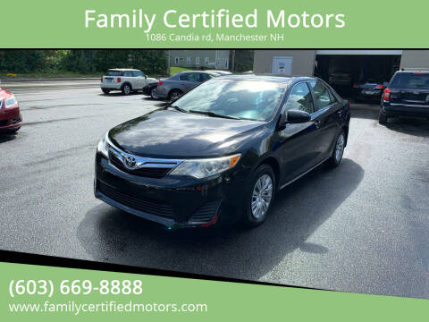 2012 Toyota Camry for sale at Family Certified Motors in Manchester NH