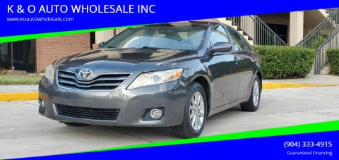 2011 Toyota Camry for sale at K & O AUTO WHOLESALE INC in Jacksonville FL