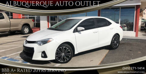 2014 Toyota Corolla for sale at ALBUQUERQUE AUTO OUTLET in Albuquerque NM