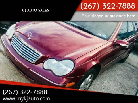 2004 Mercedes-Benz C-Class for sale at K J AUTO SALES in Philadelphia PA