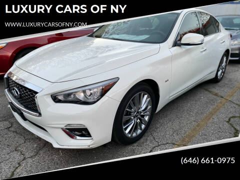 2018 Infiniti Q50 for sale at LUXURY CARS OF NY in Queens NY