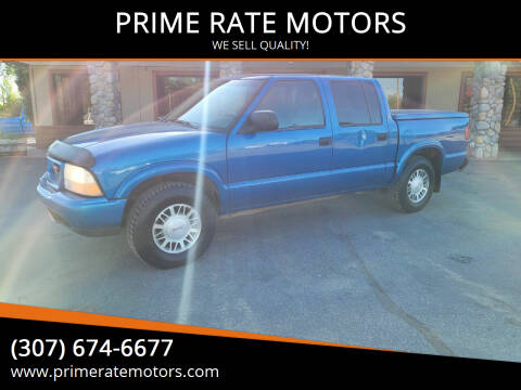 2001 GMC Sonoma for sale at PRIME RATE MOTORS in Sheridan WY