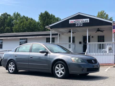2006 Nissan Altima for sale at CVC AUTO SALES in Durham NC