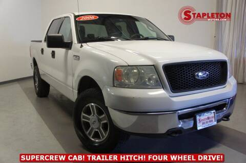 2006 Ford F-150 for sale at STAPLETON MOTORS in Commerce City CO